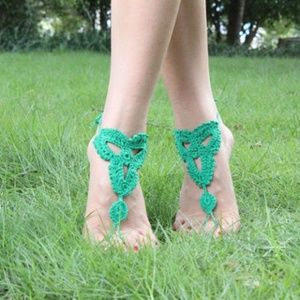 Shoes - PAIR True Green Barefoot Sandals Anklet